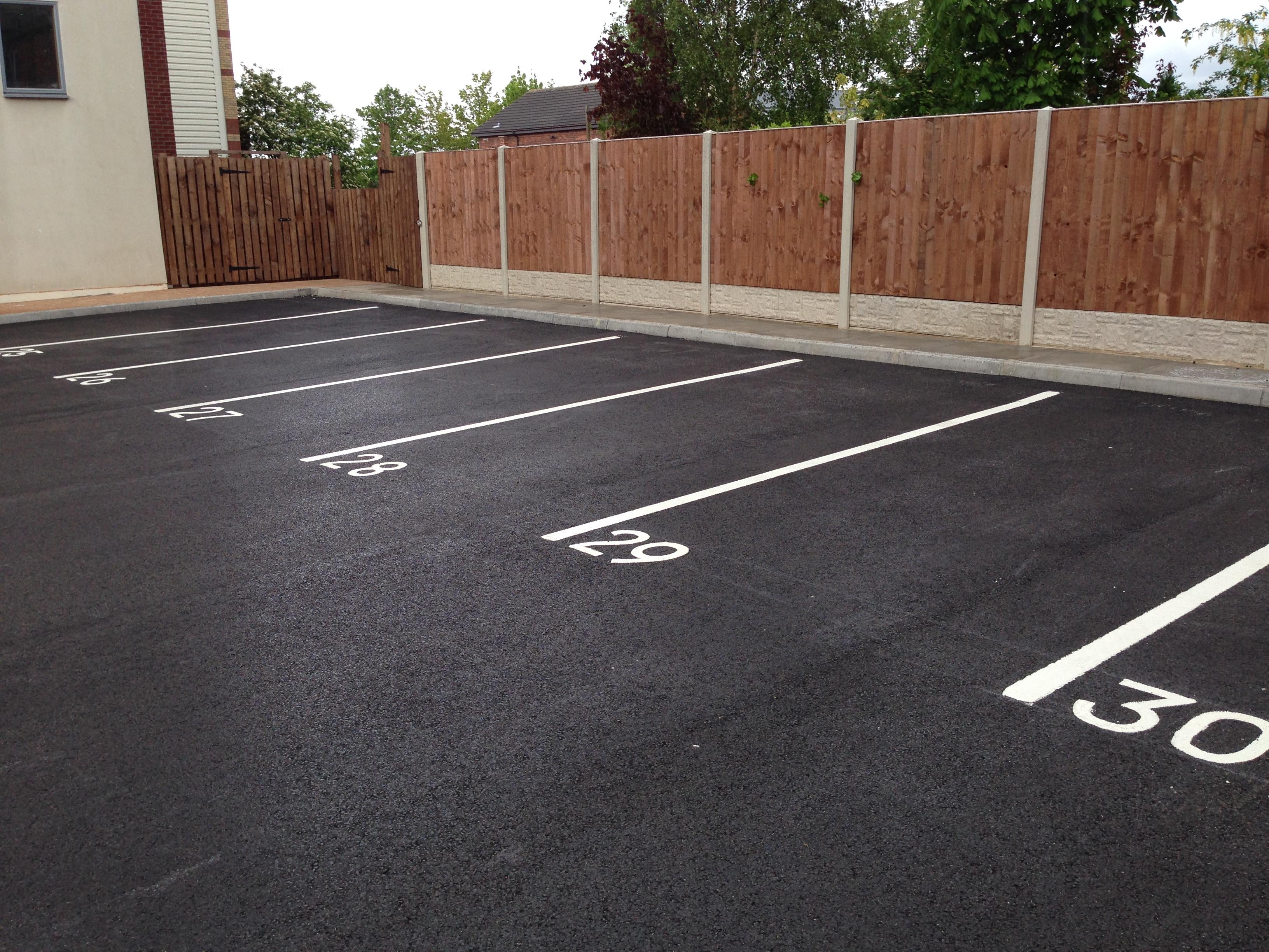 How To Line Mark A Car Park